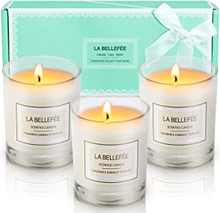 LA BELLEFÉE Scented Candles Gift Set, Natural Aromatherapy Soy Wax, 100% Cotton Wick Votive Candle for Outdoor and Indoor,...
