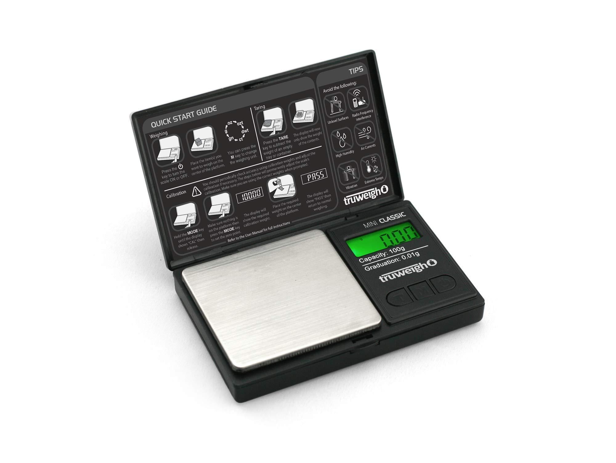 CLASSIC Digital Scale 0 01g Black