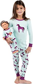 Kids & Toddler Pajamas Matching Doll & Girls Pajamas 100% Cotton 2 Piece Pjs Set (Size 2 Toddler-14 Years)