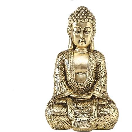 Home Collection Maison Décorations Accessoires Sculpture Statue Bouddha Assis H 30 cm
