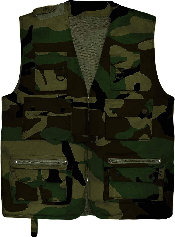normani Outdoor Jagd und Anglerweste mit vielen praktischen Taschen und Sonnenschutz