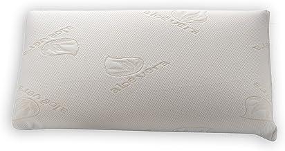 Dormio - Almohada viscoelástica con  perfecta adaptabilidad al cuello, Tejido Aloe Vera, Termorregulable, Blanco, 70 cm