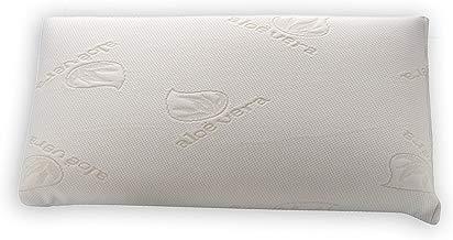Dormio - Almohada viscoelástica con  perfecta adaptabilidad al cuello, Tejido Aloe Vera, Termorregulable, Blanco, 90 cm