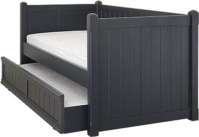 ASPACE Beds, Charterhouse Lit de Jour avec gigogne, Bleu prussien, Simple