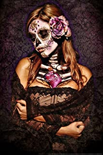 Day of The Dead Lace by Daveed Benito Cool Wall Decor Art Print Poster 24x36
