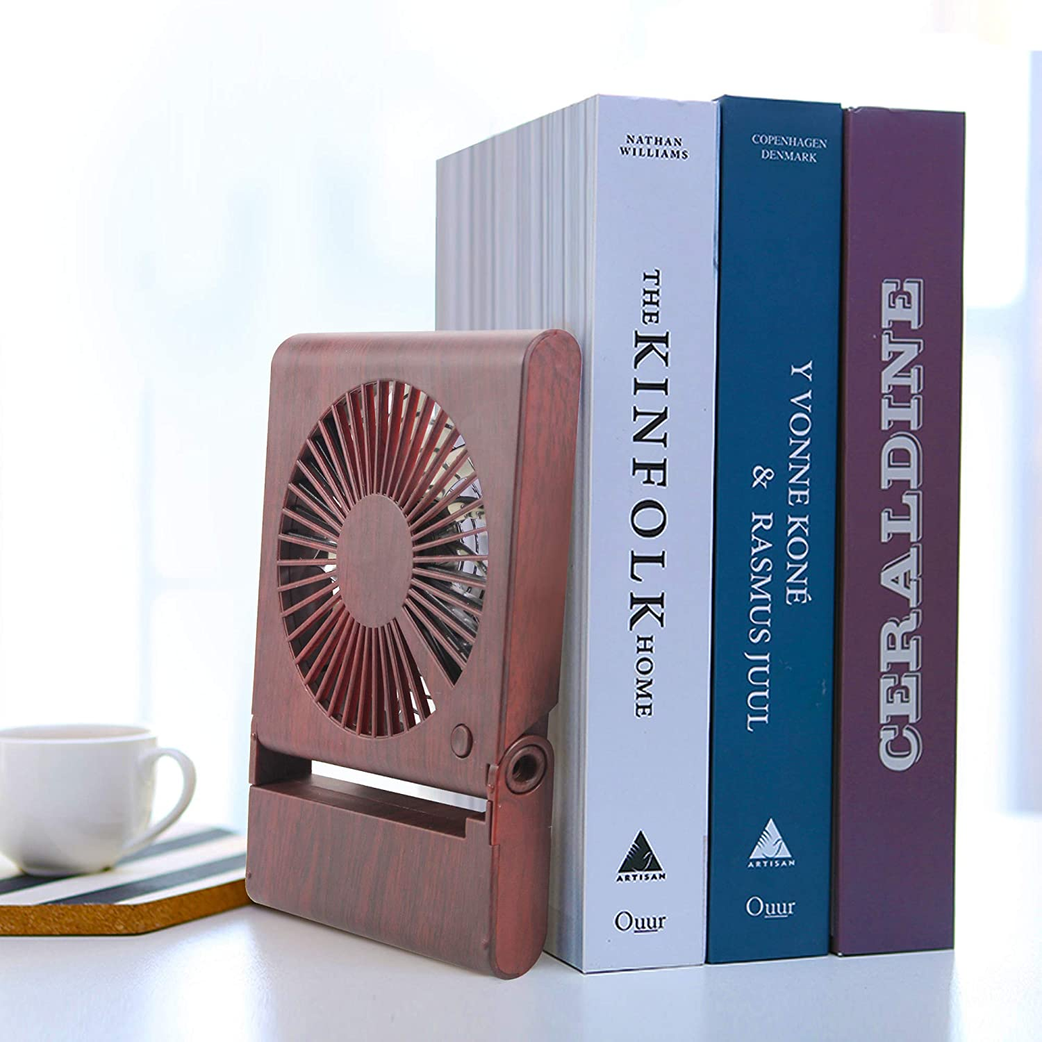 Mini Personal Fan Portable Fan with 3 Speeds Adjustable Powerful Airflow Rechargeable Battery Operated Easy to Store Low Noise for Office Travel Camping Home Desk Fan Small USB Fan Soundance