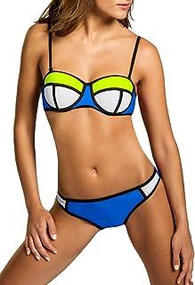 534196c836 Caspar - BIK005 - Maillot de Bain Bikini Bandeau en Spandex et Nylon pour  Femme
