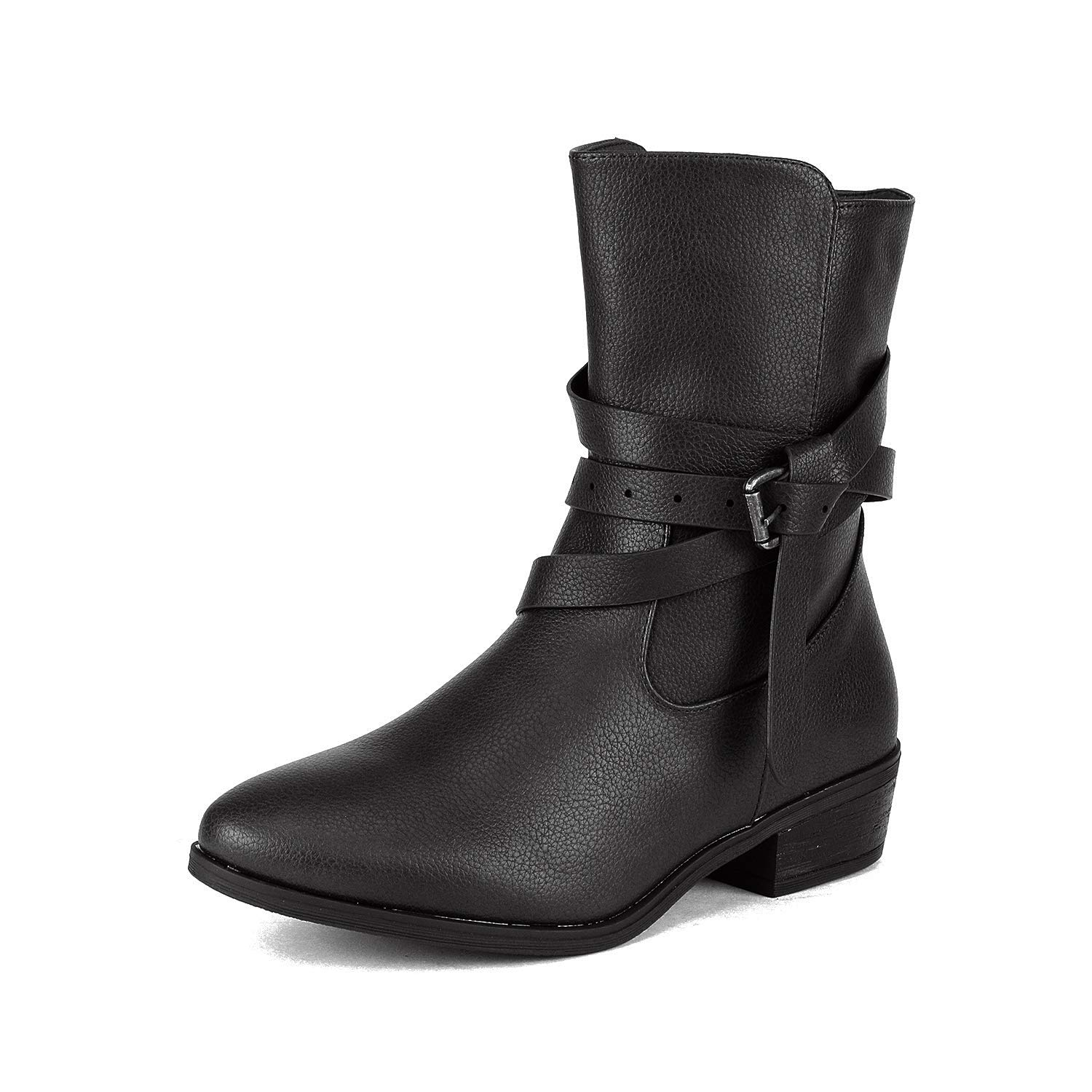 DREAM PAIRS Womens Zipper Bootie