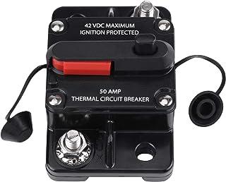Disjuntor de áudio, disjuntor estéreo de carro 50A-300A, à prova d'água, DC 12V-42V, áudio em linha de vídeo para carro, á...