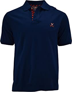 Pennington and Bailes NCAA Mens College Team Stadium Polo Shirt, Embroidered Logo, Machine Washable, Made from Cotton