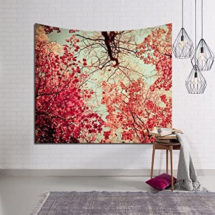 DNSJB タペストリーデジタル印刷森の壁掛けアート、ビーチタオル寝具ベッドカバーのテーブルクロスのピクニックブランケット (Color : A, Size : 229 × 150cm)