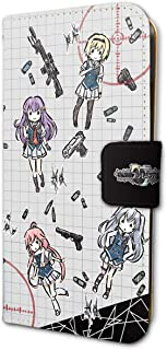 グリザイア:ファントムトリガー 01 ちりばめデザイン(グラフアートデザイン) 手帳型スマホケース iPhone6/6S/7/8兼用