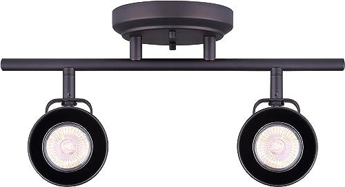 popular CANARM IT622A02ORB10 online sale LTD Polo 2 Light Track Rail, wholesale Oil Rubbed Bronze with Adjustable Heads online sale