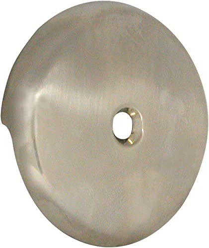 2021 DANCO sale Tub Drain Overflow Plate with Single-Hose Round Style in 2021 Brushed Nickel (89235) online