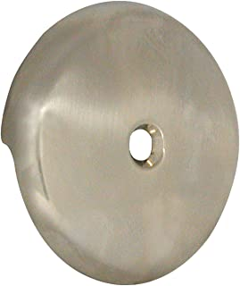 DANCO Tub Drain Overflow Plate with Single-Hose Round Style in Brushed Nickel (89235)