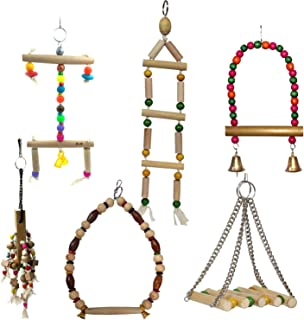 Jainsons Pet Products Bird Swing Toys, Birds Chew Toys with Hanging Bird Cage Toys for Small Parakeets, Cockatiels, Conure...
