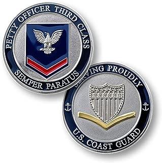 Coast Guard Petty Officer Third Class Challenge Coin