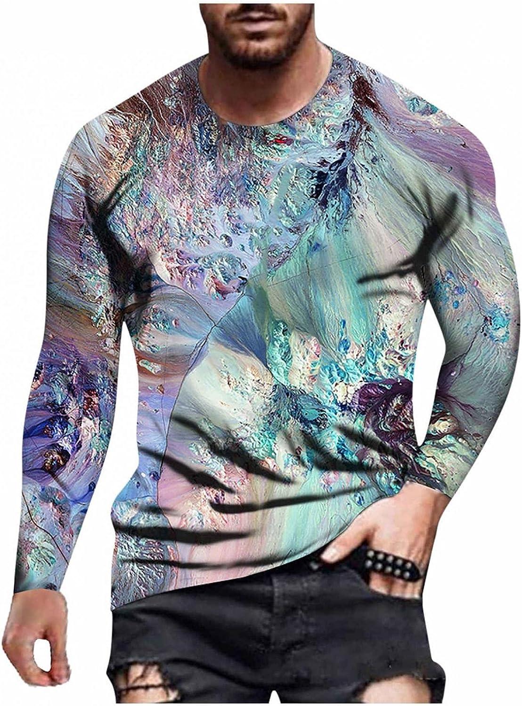 Burband Mens Hip Hop Long Sleeve Graphic Tees Autumn Winter Casual Hipster 3D Print Funny Streetwear Sweatshirts