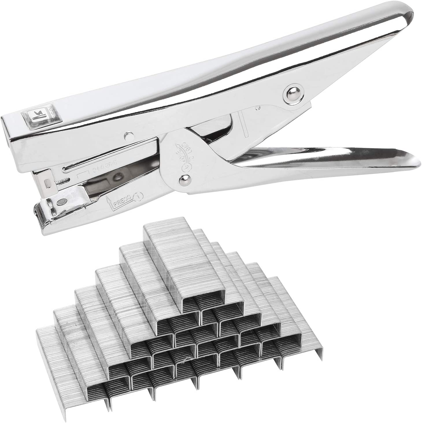 2 PCS Office Ranking integrated 1st place Stapler with 4000 Heavy 25 Staples Capacity OFFicial site Sheets