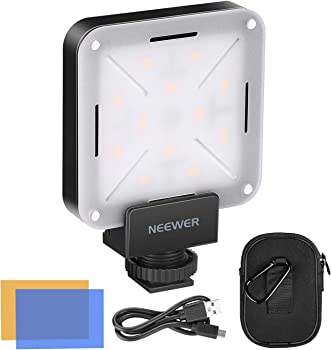 Neewer Pocket-Size On-Camera Mini LED Video Light with Built in Battery