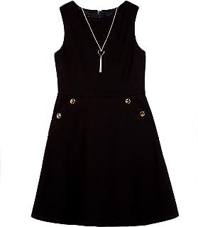 Amy Byer girls Sleeveless Pocket Dress Playwear Dress