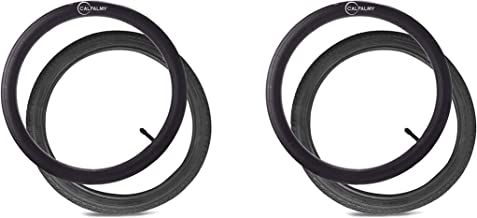 16''×1.75 Back Wheel Replacement Tires (2-Pack) and Inner Tubes (2-Pack) for BoB Revolution SE/Pro/Flex - Made from BPA/Latex Free Premium Quality Butyl Rubber
