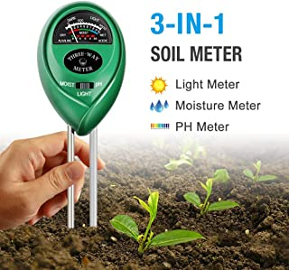 Atree Soil pH Meter, 3-in-1 Soil Tester Kits with...