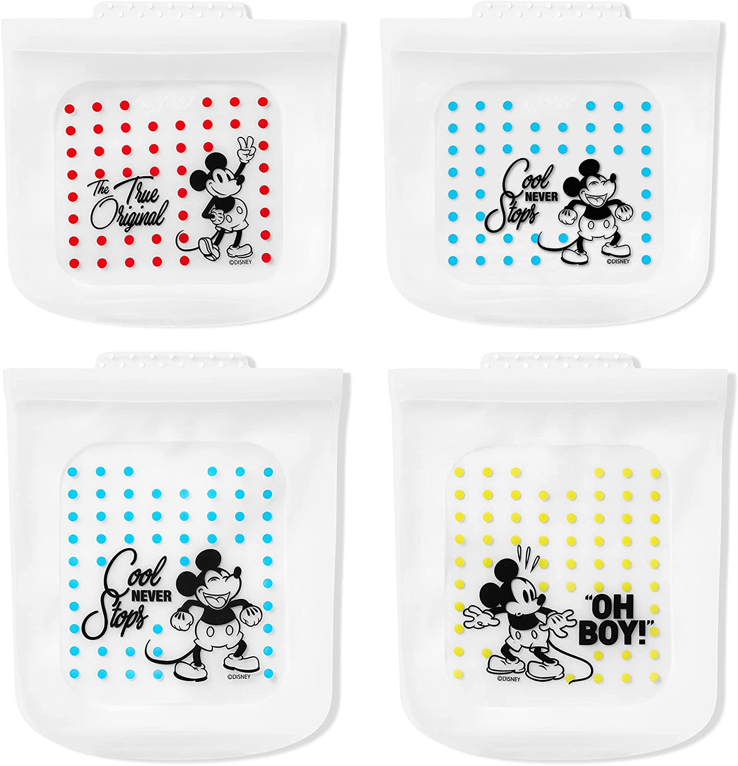 Pyrex Max 83% OFF Reusable 67% OFF of fixed price Platinum Grade Silicone Disney Food Storage Bag