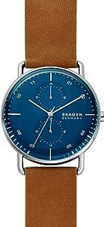 Skagen - Montre à Quartz analogique Horizont avec Bracelet en Cuir Marron pour Homme SKW6738