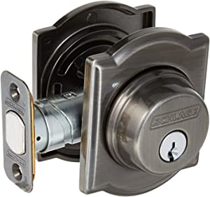 Schlage Lock Company B60CAM620 Series Deadbolt Camelot Rose Single Cylinder Deadbolt