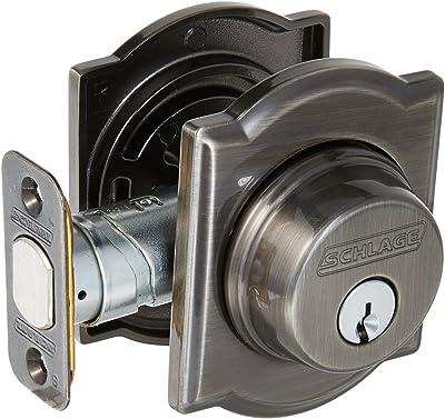Schlage Lock Company B60CAM620 Series Deadbolt Camelot Rose Single Cylinder Deadbolt