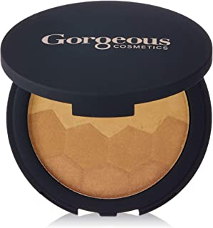 Gorgeous Cosmetics Prism Highlighter, Highlighting Powder, Pressed Shimmer Powder, in Compact with Mirror, Shade Summer