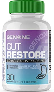 GenOne Nutrition - Gut Restore - Daily Digestive Support Supplement - 90 Capsules