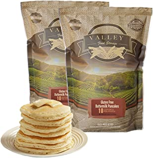 Valley Food Storage Freeze Dried Food - Gluten Free Buttermilk Pancakes - Non Perishable, Emergency Food - Essential for Backpacking, Camping and Hurricane Supplies