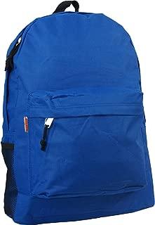 "Wholesale Classic Backpack 18"" Bulk Basic Padded School Book Bag Case Lot 30pcs"