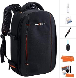K&F Concept Mochila para Cámara DSLR Trípode y Portátil Laptop 12inch con Kit de Limpieza