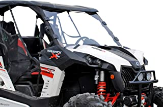 SuperATV Heavy Duty Scratch Resistant Full Windshield for Can-Am Maverick/Max/Turbo (2013-2018) - Hard Coated For Extreme Durability - Installs in Minutes!