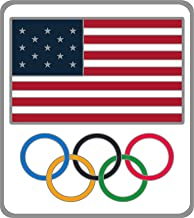 Honav USA Inc. 2020 Summer Olympics Tokyo Japan United States Flag & Olympic Rings Lapel Pin