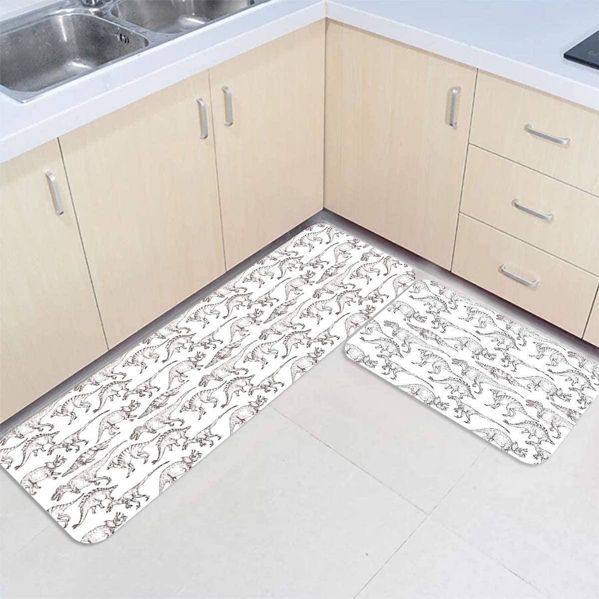 IDOWMAT Ranking integrated 1st place NEW before selling ☆ Kitchen Mat Set of 2 Non-Slip Floor Premium