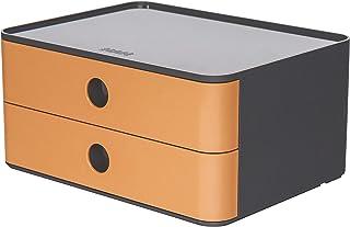 HAN 1120-83 SMART-BOX ALLISON Boîte de rangement empilable avec 2 tiroirs caramel brown