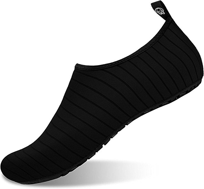 Evoio Water Sports shoes Barefoot Quick-Dry Aqua Yoga Socks Slip-On for Men Women Kids