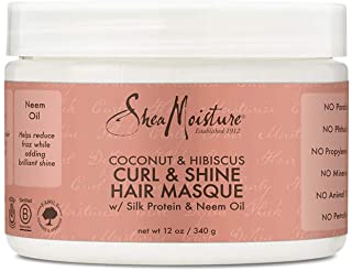 SheaMoisture Coconut & Hibiscus Masque Hair Treatment, 12 Ounce