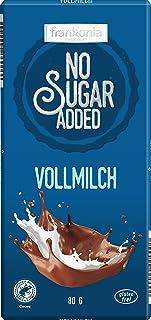 frankonia CHOCOLAT NO SUGAR ADDED Vollmilch Schokolade glutenfrei, 80 g