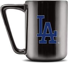 مج قهوة سيراميك مطبوع عليه Duck House MLB LOS ANGELES DODGERS - أسود معدني، 473 مل