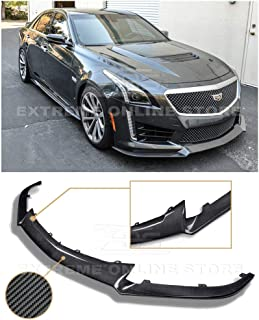 Extreme Online Store for 2016-2019 Cadillac CTS-V Models | EOS Carbon Package Style Front Bumper Lower Lip Splitter (Carbon Fiber)
