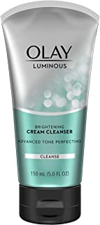 Facial Cleanser by Olay Luminous Brightening Cream Face Cleanser with Vitamin E, 5.0 Fluid Ounce (Pack of 3)
