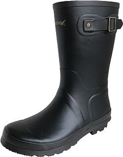 [アマート] レディース ベルト ハーフ ブーツ 長靴 雨靴 通勤 アウトドア 親子 ファミリー 4色 AMT-2102