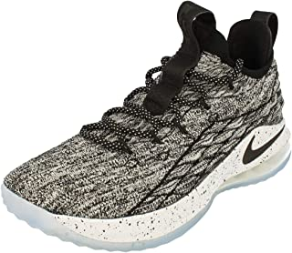 Nike Men's Lebron XV Low Basketball Sneakers (Black/Black-White-Black)