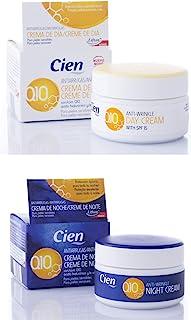 :Set de 2 Cremas Cien Q10 Antiarrugas Noche y Día con Vitamina E - 50 ml