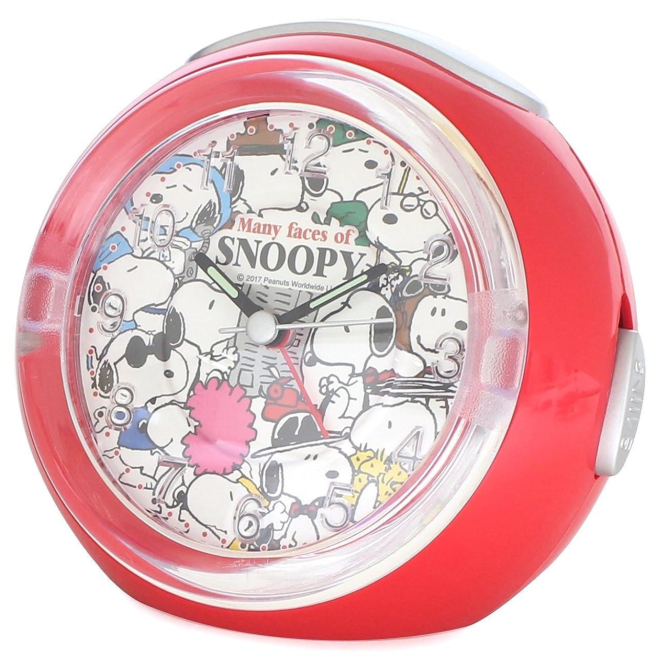好奇心しかし何もないアリアス(ALIAS) 置き時計?掛け時計 レッド 11.0×12.8×8.8cm